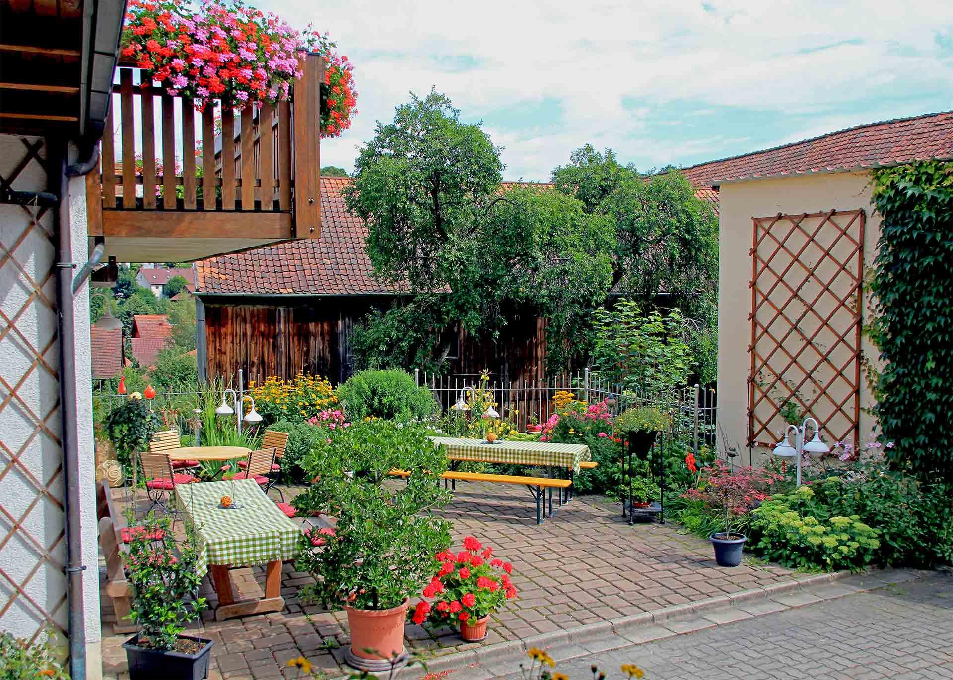 Biergarten in Kulmbach